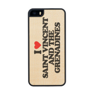I LOVE SAINT VINCENT AND THE GRENADINES CARVED® MAPLE iPhone 5 SLIM CASE