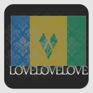I love Saint Vincent And The Grenadines Cool Stickers
