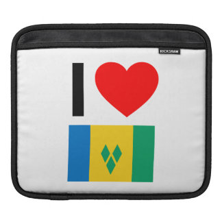 i love saint vincent and the grenadines sleeves for iPads