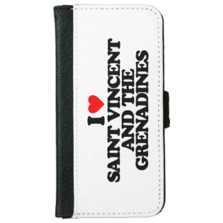 I LOVE SAINT VINCENT AND THE GRENADINES iPhone 6 WALLET CASE