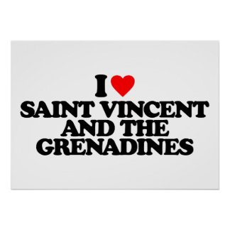I LOVE SAINT VINCENT AND THE GRENADINES PRINT
