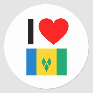 i love saint vincent and the grenadines sticker