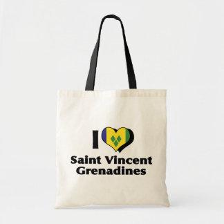I Love Saint Vincent Grenadines Flag Tote Bag