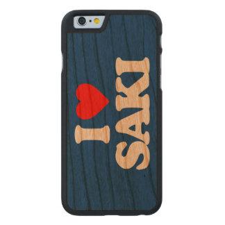 I LOVE SAKI CARVED CHERRY iPhone 6 CASE