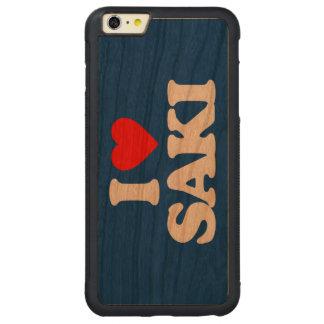 I LOVE SAKI CARVED CHERRY iPhone 6 PLUS BUMPER CASE