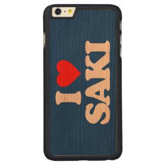I LOVE SAKI CARVED CHERRY iPhone 6 PLUS SLIM CASE