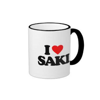 I LOVE SAKI COFFEE MUGS