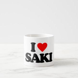 I LOVE SAKI ESPRESSO MUGS