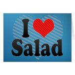 I Love Salad Greeting Card