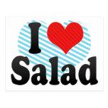 I Love Salad Postcard