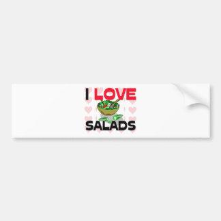 I Love Salads Bumper Stickers