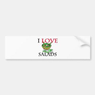 I Love Salads Bumper Sticker