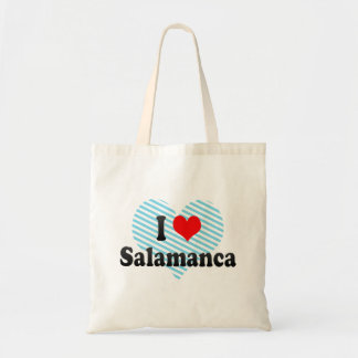 I Love Salamanca, Spain Canvas Bags