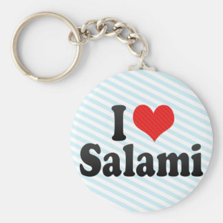 I Love Salami Key Chain