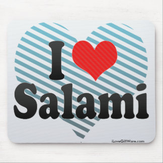 I Love Salami Mouse Pad