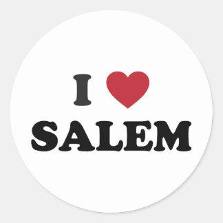 I Love Salem Oregon Classic Round Sticker