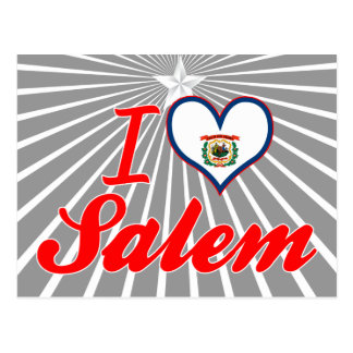I Love Salem West Virginia Postcard