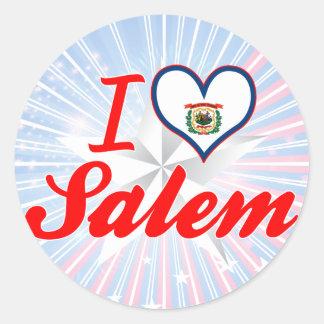I Love Salem, West Virginia Round Sticker