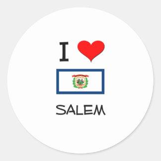 I Love Salem West Virginia Round Sticker