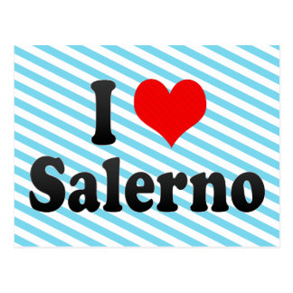 I Love Salerno, Italy Postcard