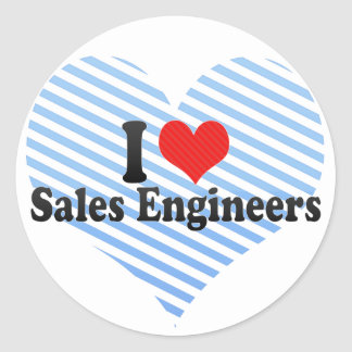 I Love Sales Engineers Sticker
