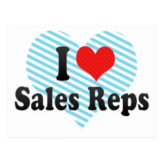 I Love Sales Reps Postcard