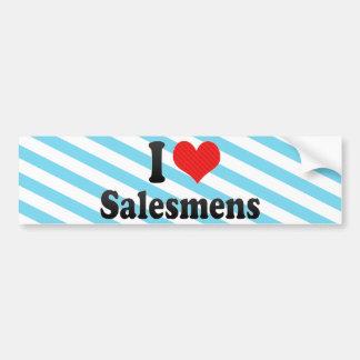 I Love Salesmens Car Bumper Sticker