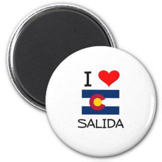 I Love SALIDA Colorado 2 Inch Round Magnet