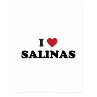 I Love Salinas California Postcard