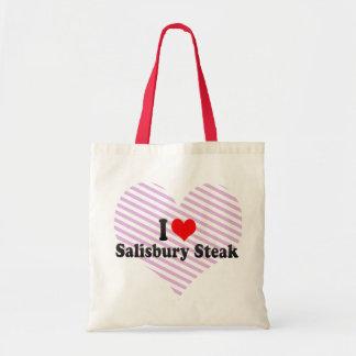 I Love Salisbury Steak Budget Tote Bag