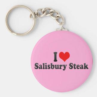 I Love Salisbury Steak Key Chain