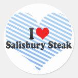 I Love Salisbury Steak Stickers