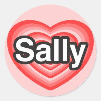 I love Sally. I love you Sally. Heart Classic Round Sticker