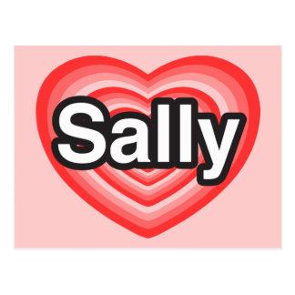 I love Sally. I love you Sally. Heart Postcard