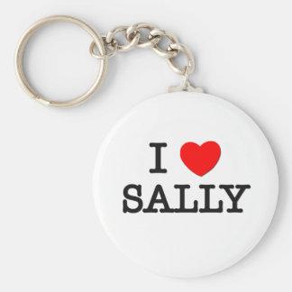 I Love Sally Keychain