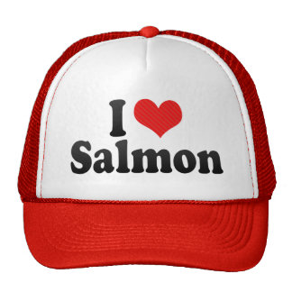 I Love Salmon Trucker Hat