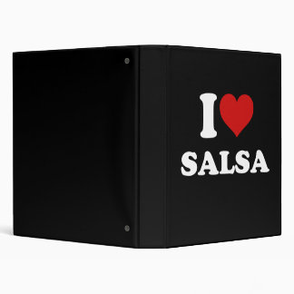 I Love Salsa 3 Ring Binder