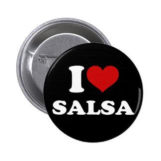 I Love Salsa Pinback Buttons