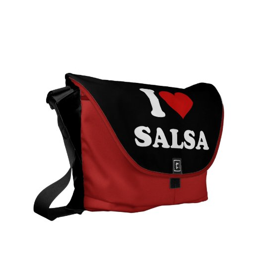 I Love Salsa Courier Bag