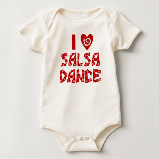 I Love Salsa Dance Custom Dancing Lover Baby Bodysuit