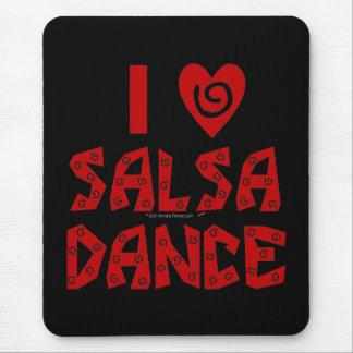 I Love Salsa Dance Custom Dancing Mouse Mat Mouse Pad