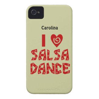 I Love Salsa Dance Custom Name Blackberry Case