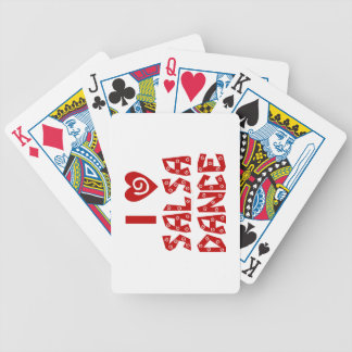 I Love Salsa Dance Heart Custom Playing Cards