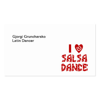 I Love Salsa Dance Latin Dance Instructor Business Double-Sided Standard Business Cards (Pack Of 100)