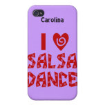 I Love Salsa Dance Personalized iphone4 Cover/Case iPhone 4 Covers