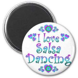 I Love Salsa Dancing Magnet