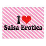 I Love Salsa Erotica Postcard