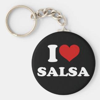I Love Salsa Keychain