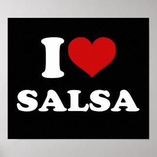 I Love Salsa Poster