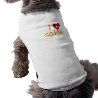 I Love Salsa Swirl Heart Latin Dancing Custom Pet Clothes